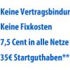 Discoplus nur noch heute mit 35,- Euro Startguthaben und 3 Monate gratis Surfen!