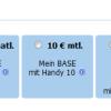 Der BASE Webkonfigurator – Tarif und Handy kombinieren