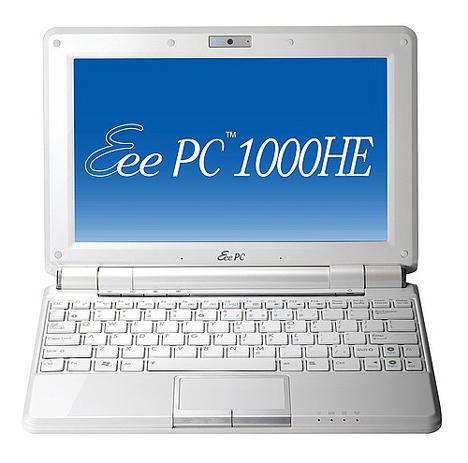 Asus EeePC 1000HE endlich im Handel - Bild: Asus.com