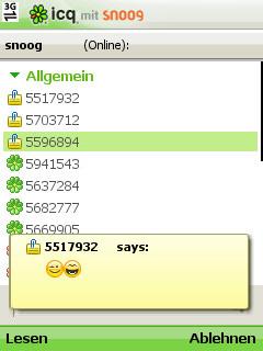 Snoog ICQ