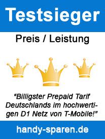 Testsieger Preis/Leistung Prepaid