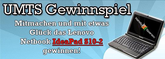 Mitmachen und mit etwas Glück ein Lenovo Netbook gewinnen!