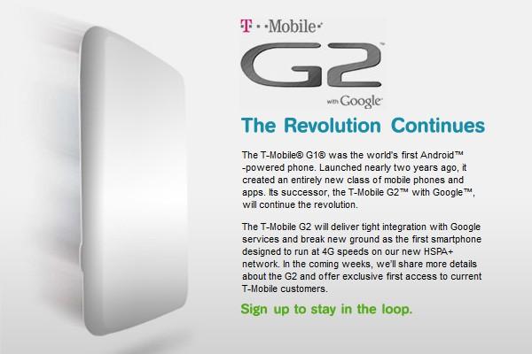 Google G2 Smartphone T-Mobile UK