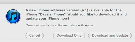 iOS4.1 Update verfügbar