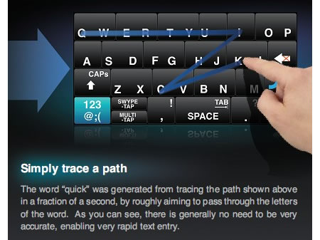 Swype - Texteingabe für Android-Phones