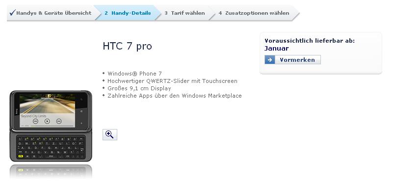 HTC 7 Pro bei O2