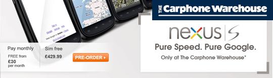 Google Nexus S im UK erhältlich