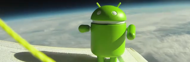 Google Nexus S in Space