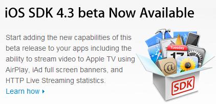 iOS 4.3 Beta für Entwickler veröffentlicht