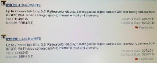 Das weiße iPhone 4 nun auch bei bestbuy.com aufgetaucht