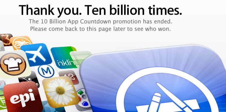 Mehr als 10 Mrd Downloads im Appstore