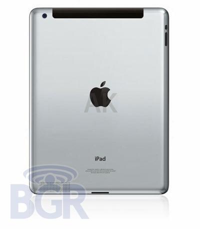 Ist das die Rückseite des neuen iPad 2 von Apple?