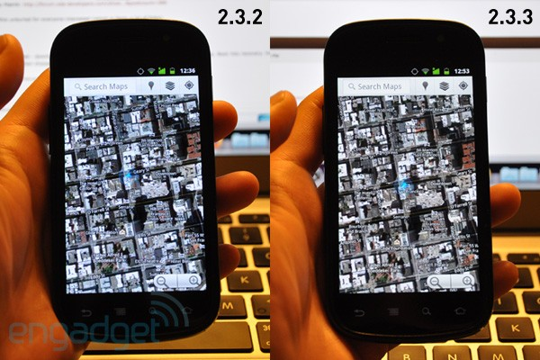 Das Nexus S mit Problemen beim Update