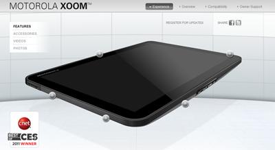 Hier gehts zur Produktseite des XOOM Tablet