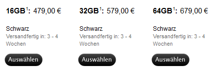 iPad 2 Liefertimen in Deutschland