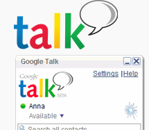 Google Talk Video Chat Funktion