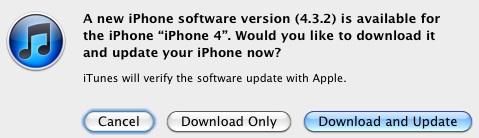 iOS 4.3.2 Update