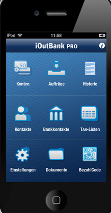 iOut Banking Pro fürs iPhone