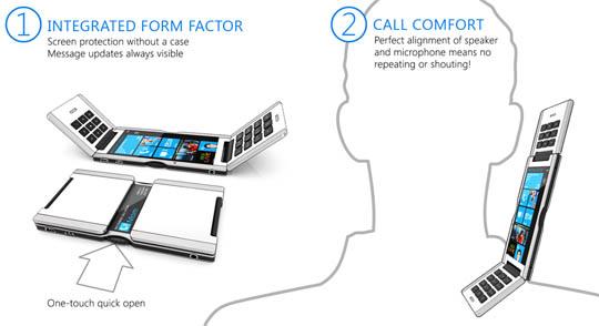 Triple Flip Konzept Smartphone