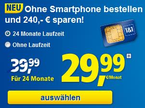 1und1 ALL-NET Flatrate für 29,99 Euro pro Monat