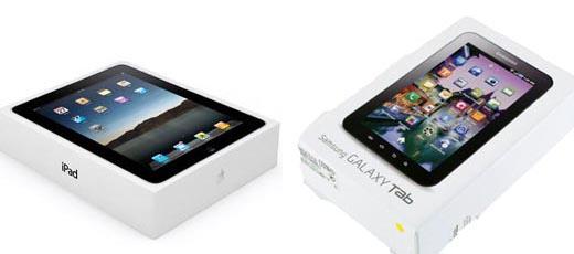 iPad und Galaxy Tab Verpackung