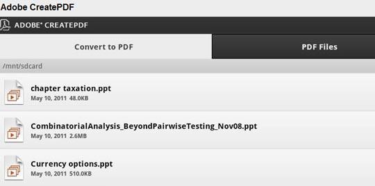 CreatePDF App von Adobe