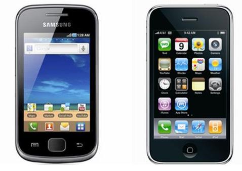 Samsung Galaxy S und das iPhone 3G