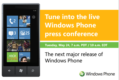 Livestream Event zu Mango Update von Windows Phone 7
