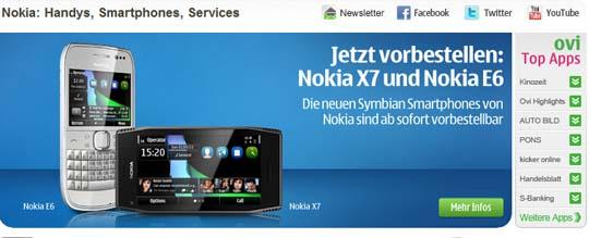 Nokia X7 und Nokia E6 vorbestellbar