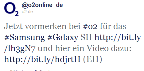 Samsung Galaxy S2 bei O2 vorbestellbar