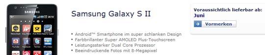 O2 erst im Juni mit Samsung Galaxy S2?