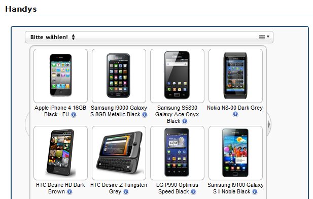 Schritt 3: Wenn Du möchtest, kannst Du auch gleich das passende Handy zum Base Tarif auswählen.
