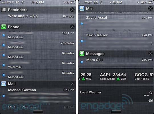 iOS 5 mit neuer Nachrichtenfunktion