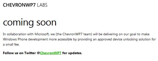 ChevronWP7 Jailbreak wird von Microsoft lizensiert