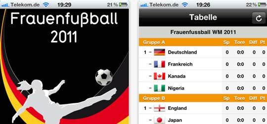 Frauenfußball WM 2011 App -Kostenlos im Appstore zu finden