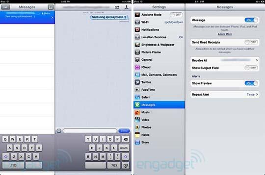 iOS 5 mit neuer iMessage Funktion