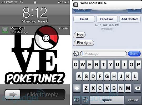 iOS 5 - Neuer Lockscreen mit Nachrichtendarstellung