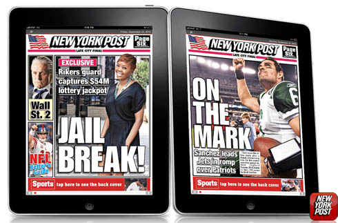 New York Post ab heute via iPad auch kostenpflichtig