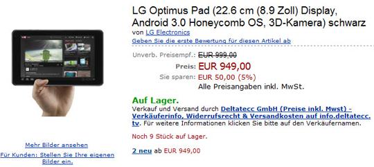 LG Optimus Pad 3D - Jetzt auch in Deutschland verfügbar