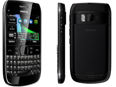 Nokia E6 Smartphone mit Symbian^3 Anna