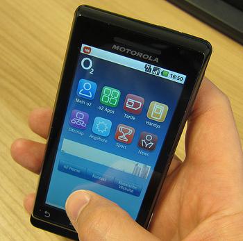 O2 Webseite im Smartphonelook