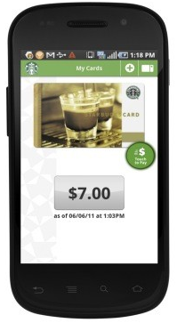 Starbucks App nun auch via Android erhältlich