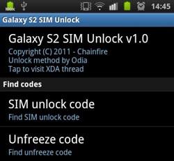 Samsung Galaxy S2 mit App entsperren