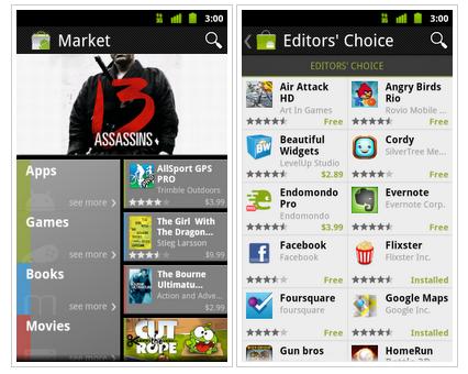 Google kündigt Update für den Android Market an