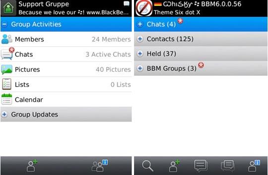 Blackberry Messanger 6 erschienen