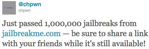 Jailbreakme 3.0 mit mehr als 1 Mio. Nutzern