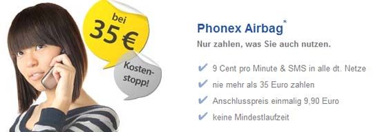 Phonex mit Kostenairbag