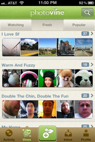 Photovine iOS App