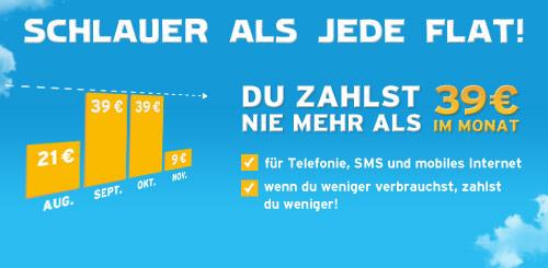 Blau.de nun auch mit Kostenschutz