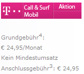 Call&Surf Mobile Handytarif - Nur 24,95 Euro/Monat